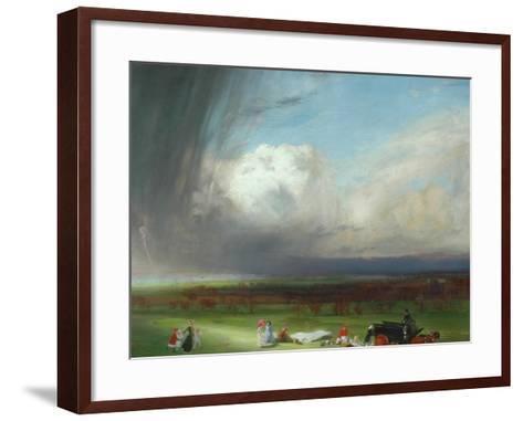 An Interrupted Picnic, 1901-Charles Sims-Framed Art Print