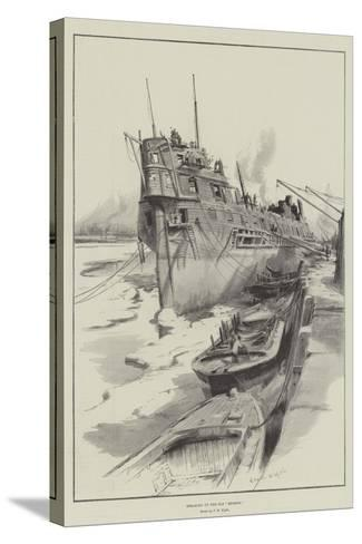 Breaking Up the Old Benbow-Charles William Wyllie-Stretched Canvas Print