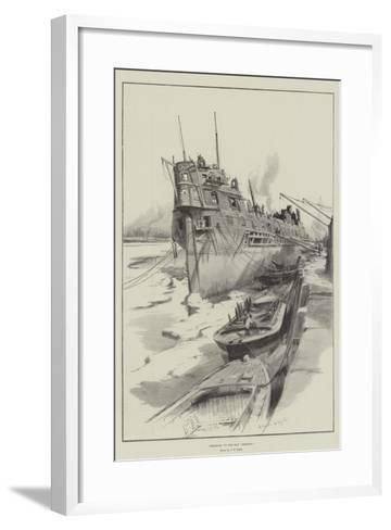 Breaking Up the Old Benbow-Charles William Wyllie-Framed Art Print