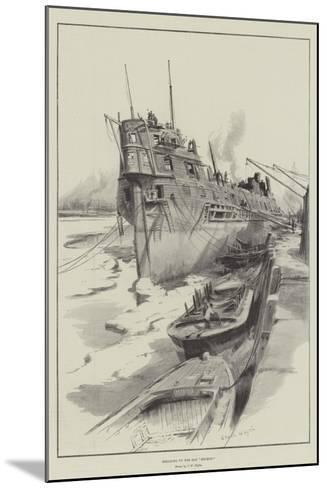 Breaking Up the Old Benbow-Charles William Wyllie-Mounted Giclee Print