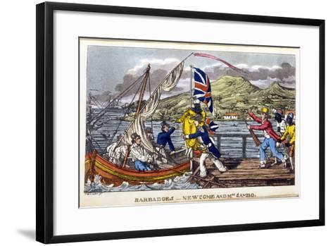 Barbados: Newcome and Mrs Sambo-Charles Williams-Framed Art Print