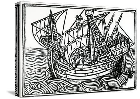 A Spanish Ship, 1496-Christopher Columbus-Stretched Canvas Print