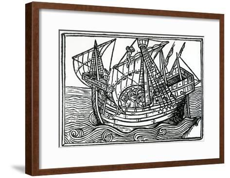 A Spanish Ship, 1496-Christopher Columbus-Framed Art Print