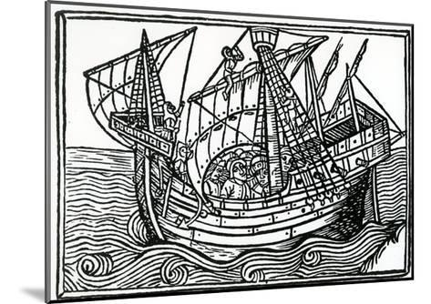 A Spanish Ship, 1496-Christopher Columbus-Mounted Giclee Print
