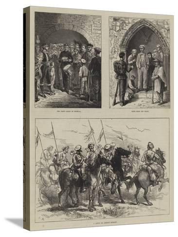 The Civil War in Spain-Charles Robinson-Stretched Canvas Print