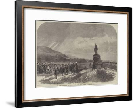 The Queen Uncovering the Statue of the Late Prince Consort at Balmoral-Charles Robinson-Framed Art Print