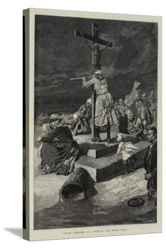 For Those in Peril on the Sea-Charles Stanley Reinhart-Stretched Canvas Print