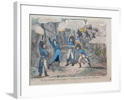 The Cold-Blooded Murderer or the Assassination of the Duke D'Enghein, 1804-Charles Williams-Framed Art Print