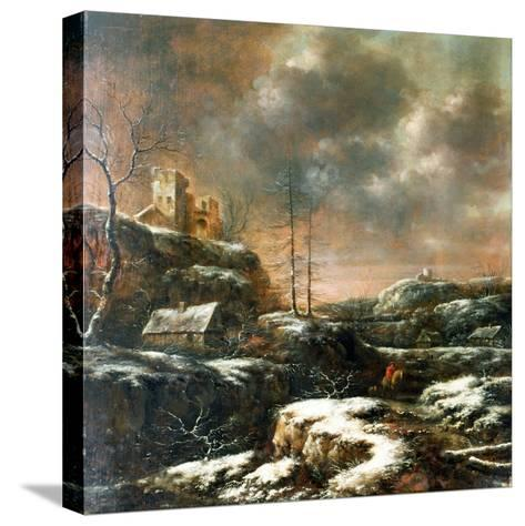 Winter Scene-Claes Molenaer-Stretched Canvas Print