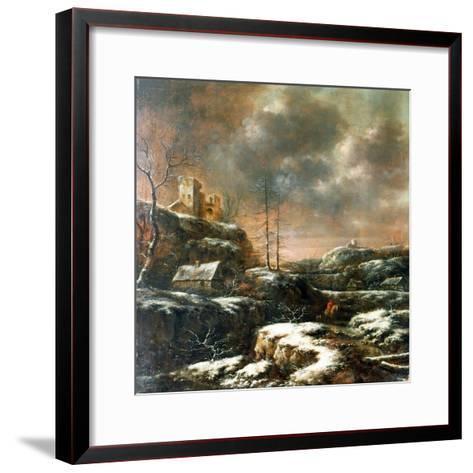 Winter Scene-Claes Molenaer-Framed Art Print