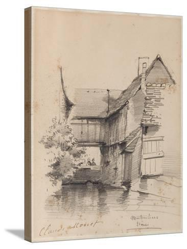 House on the Lezarde at Montivilliers, 1857-Claude Monet-Stretched Canvas Print