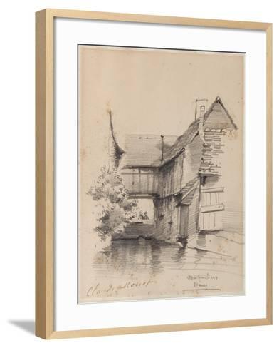 House on the Lezarde at Montivilliers, 1857-Claude Monet-Framed Art Print