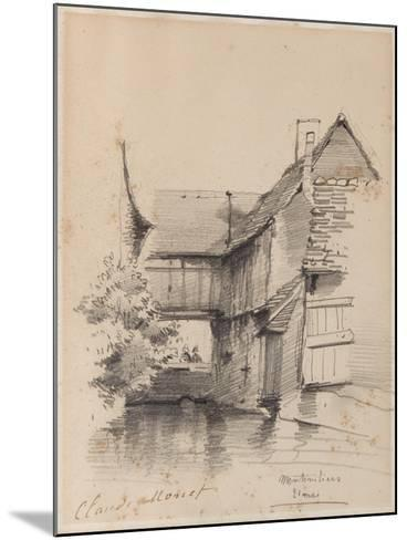 House on the Lezarde at Montivilliers, 1857-Claude Monet-Mounted Giclee Print