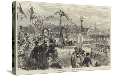 The Marquis of Lorne and Princess Louise Landing at Halifax, Nova Scotia-Charles Robinson-Stretched Canvas Print