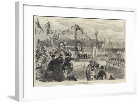 The Marquis of Lorne and Princess Louise Landing at Halifax, Nova Scotia-Charles Robinson-Framed Art Print