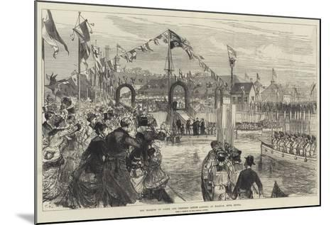 The Marquis of Lorne and Princess Louise Landing at Halifax, Nova Scotia-Charles Robinson-Mounted Giclee Print