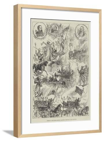 Opening of the Winter Gardens, Blackpool, Sketches in the Procession-Charles Robinson-Framed Art Print