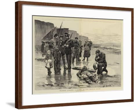 Washed Ashore, a Scene on the French Coast-Charles Stanley Reinhart-Framed Art Print