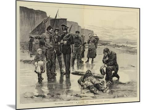 Washed Ashore, a Scene on the French Coast-Charles Stanley Reinhart-Mounted Giclee Print