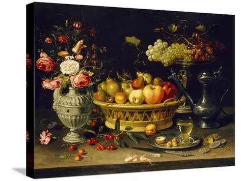 Still Life of Fruit and Flowers, 1608 - 1621-Clara Peeters-Stretched Canvas Print