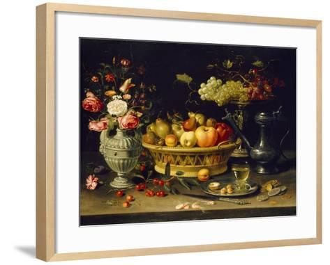 Still Life of Fruit and Flowers, 1608 - 1621-Clara Peeters-Framed Art Print