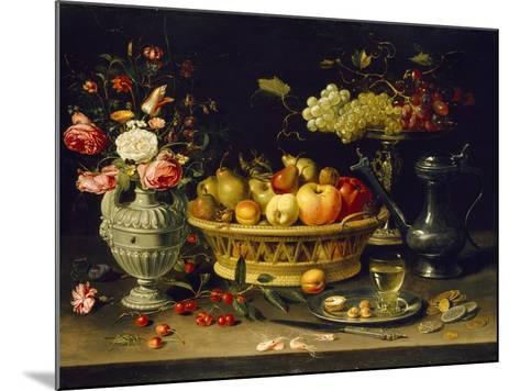 Still Life of Fruit and Flowers, 1608 - 1621-Clara Peeters-Mounted Giclee Print