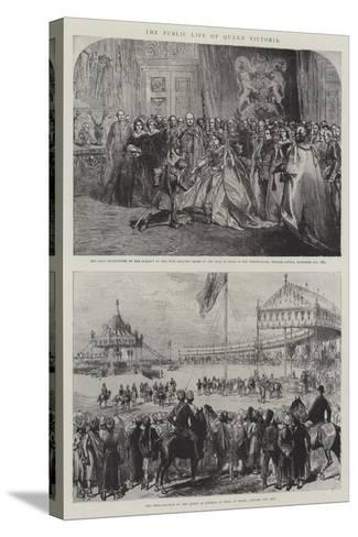 The Public Life of Queen Victoria-Charles Robinson-Stretched Canvas Print