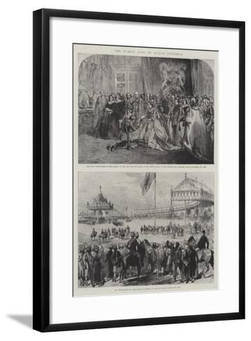 The Public Life of Queen Victoria-Charles Robinson-Framed Art Print