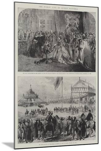 The Public Life of Queen Victoria-Charles Robinson-Mounted Giclee Print