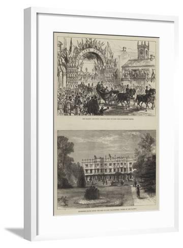 Her Majesty's Visit to Hughenden-Charles Robinson-Framed Art Print