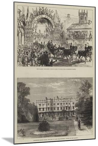 Her Majesty's Visit to Hughenden-Charles Robinson-Mounted Giclee Print
