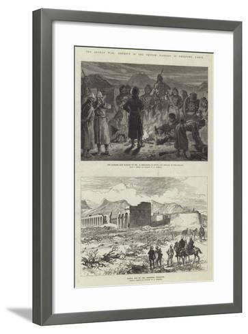 The Afghan War, Defence of the British Position at Sherpore, Cabul-Charles Robinson-Framed Art Print