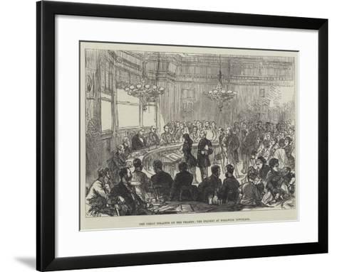 The Great Disaster on the Thames, the Inquest at Woolwich Townhall-Charles Robinson-Framed Art Print