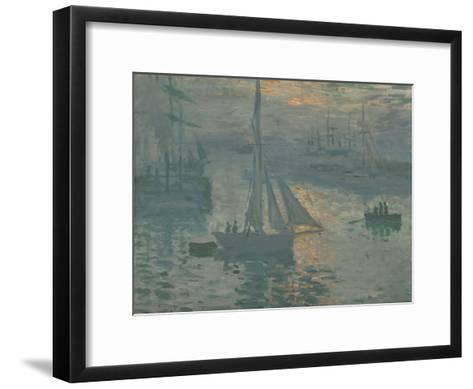 Sunrise (Marine), 1873-Claude Monet-Framed Art Print