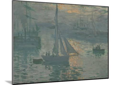 Sunrise (Marine), 1873-Claude Monet-Mounted Giclee Print