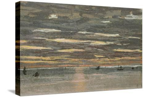 Sunset at Sea, 1865-1870-Claude Monet-Stretched Canvas Print