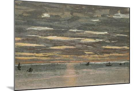 Sunset at Sea, 1865-1870-Claude Monet-Mounted Giclee Print