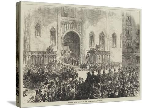 Reception of the New King of Spain at the Cathedral, Barcelona-Charles Robinson-Stretched Canvas Print