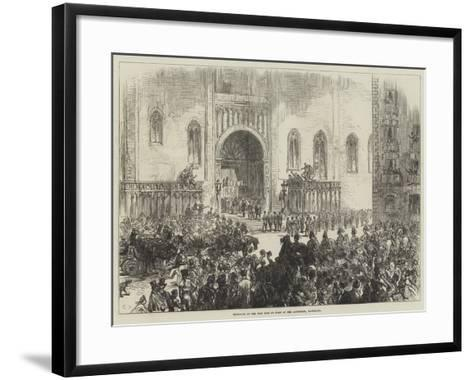 Reception of the New King of Spain at the Cathedral, Barcelona-Charles Robinson-Framed Art Print
