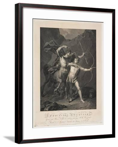 The Education of Achilles by the Centaur Chiron-Charles-Clément Bervic-Framed Art Print