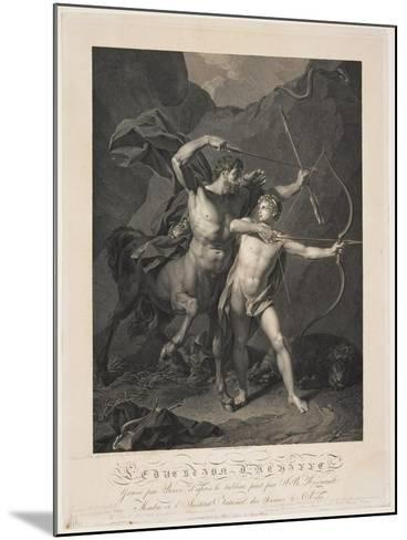 The Education of Achilles by the Centaur Chiron-Charles-Clément Bervic-Mounted Giclee Print