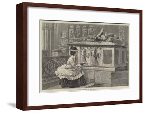 Amongst the Tombs-Claude Andrew Calthrop-Framed Art Print