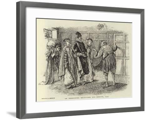 An Innkeeper Receiving His Guests, 1595-Claude Shepperson-Framed Art Print