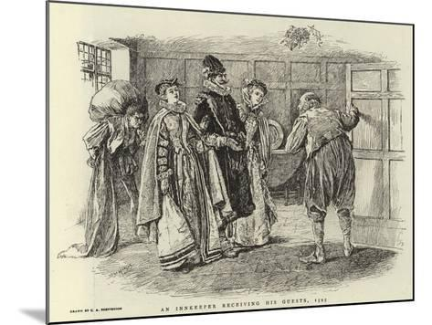 An Innkeeper Receiving His Guests, 1595-Claude Shepperson-Mounted Giclee Print