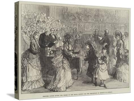 Princess Louise Giving the Prizes of the Royal Society for the Prevention of Cruelty to Animals-Charles Robinson-Stretched Canvas Print