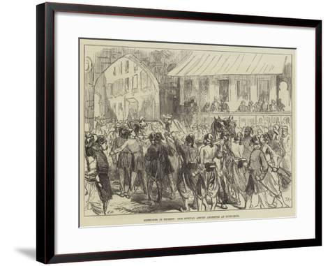 Sketches in Turkey, Our Special Artist Arrested at Rustchuck-Charles Robinson-Framed Art Print