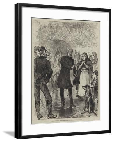 Irish Sketches, an Itinerant Orator, a Sketch Near Killarney-Charles Robinson-Framed Art Print