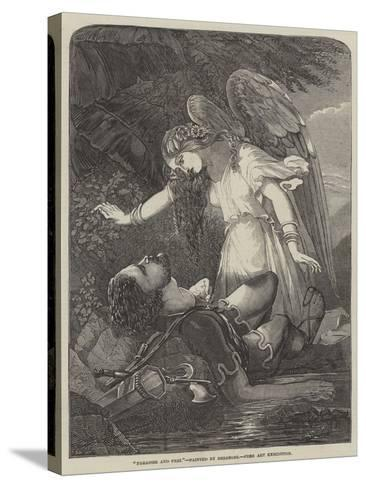 Paradise and Perl-Chevalier Louis-William Desanges-Stretched Canvas Print