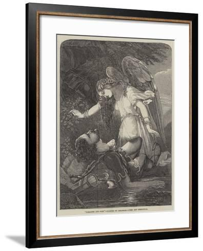 Paradise and Perl-Chevalier Louis-William Desanges-Framed Art Print