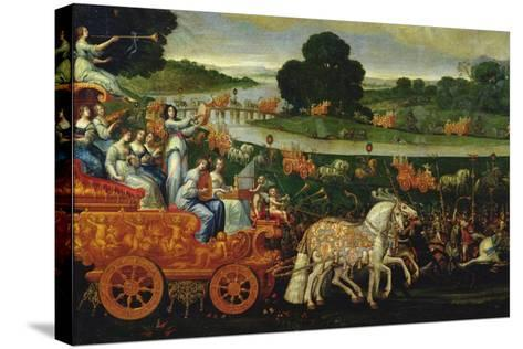 Earth, Detail of the Left Carriage with Nine Muses, C.1640-41-Claude Deruet-Stretched Canvas Print